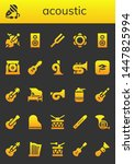 acoustic icon set. 26 filled... | Shutterstock .eps vector #1447825994