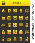 closed icon set. 26 filled... | Shutterstock .eps vector #1447828964
