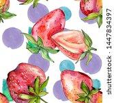 strawberry healthy food fresh... | Shutterstock . vector #1447834397