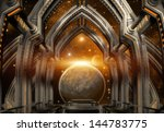 gate construction and alien...   Shutterstock . vector #144783775