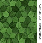 simple abstract leaves with... | Shutterstock .eps vector #1447840397
