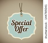 special offer over vintage... | Shutterstock .eps vector #144785041