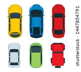 cars top view. different cars... | Shutterstock .eps vector #1447854791