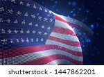 vector bright glowing country... | Shutterstock .eps vector #1447862201