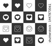 set of love heart icon symbol... | Shutterstock .eps vector #1447873061