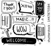 set of cute speech bubble in... | Shutterstock .eps vector #1447875584