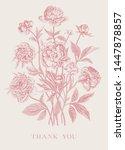 vintage vector floral... | Shutterstock .eps vector #1447878857