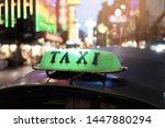 tuk tuk taxi in bangkok  ...   Shutterstock . vector #1447880294