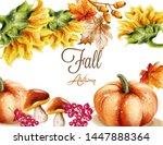 autumn fall card vector... | Shutterstock .eps vector #1447888364