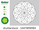 Green Mandala In Cartoon Style...