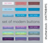 web elements vector button set | Shutterstock .eps vector #1447908491