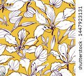 seamless vector floral pattern... | Shutterstock .eps vector #1447923131