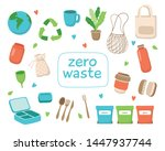 zero waste concept illustration ... | Shutterstock . vector #1447937744