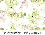 closeup veins of bright green... | Shutterstock . vector #1447938674