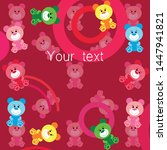 color vector bear  baby picture ...   Shutterstock .eps vector #1447941821
