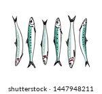 vector illustration of hand... | Shutterstock .eps vector #1447948211