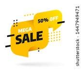 sale banner template design....   Shutterstock .eps vector #1447949471