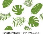 tropical green banana leaves.... | Shutterstock .eps vector #1447962611