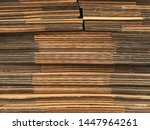 side view of folded brown paper ... | Shutterstock . vector #1447964261