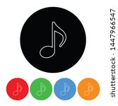 music note icon musical half... | Shutterstock . vector #1447966547