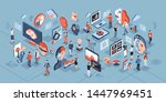 artificial intelligence... | Shutterstock .eps vector #1447969451