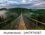 View Of A Suspension Bridge In...