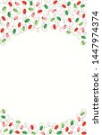 red and green holiday christmas ... | Shutterstock .eps vector #1447974374