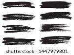 grunge paint lines. grunge... | Shutterstock .eps vector #1447979801