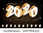 vector 3d style design on black ... | Shutterstock .eps vector #1447996121