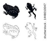 vector illustration of wildlife ... | Shutterstock .eps vector #1448010047
