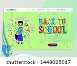 concept of schoolwork for... | Shutterstock .eps vector #1448025017
