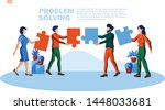 problem solving strategy with...   Shutterstock .eps vector #1448033681