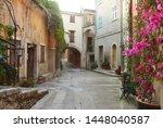medieval village in roquebrune... | Shutterstock . vector #1448040587