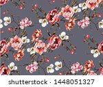 big pattern with classic... | Shutterstock .eps vector #1448051327