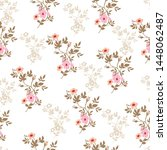 all over flowers bunches pattern   Shutterstock .eps vector #1448062487