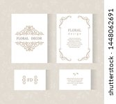 vector set ornamental... | Shutterstock .eps vector #1448062691