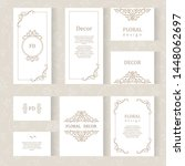 vector set ornamental... | Shutterstock .eps vector #1448062697
