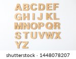 Wooden Letters Of English...