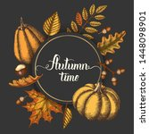 Autumn Background With Hand...