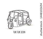 vector linear illustration of... | Shutterstock .eps vector #1448102654