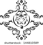tiger tattoo | Shutterstock .eps vector #144810589