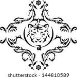 tiger tattoo | Shutterstock .eps vector #144810589