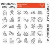 insurance line icon set ... | Shutterstock .eps vector #1448143514