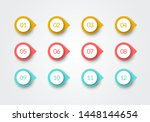 vector number bullet point... | Shutterstock .eps vector #1448144654