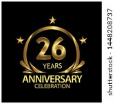 twenty six years anniversary... | Shutterstock .eps vector #1448208737