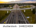 view from the air on the... | Shutterstock . vector #1448224004