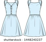 dress for lady vector template... | Shutterstock .eps vector #1448240237