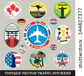 vector images of vintage travel ... | Shutterstock .eps vector #144827377