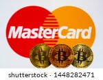 Gold Bitcoin Coins With The...