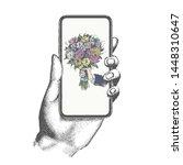 mobile phone vector...   Shutterstock .eps vector #1448310647